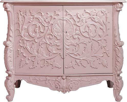 White Baroque Cupboard Carved Design image 10