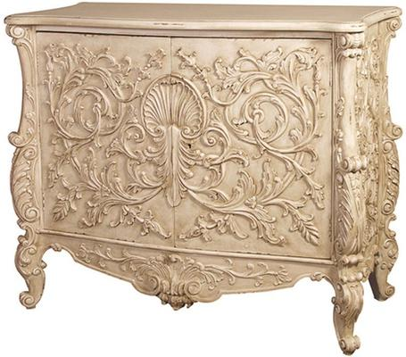 White Baroque Cupboard Carved Design image 11