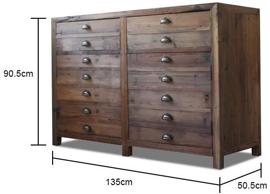 Double Rustic Pine Storage Unit image 2