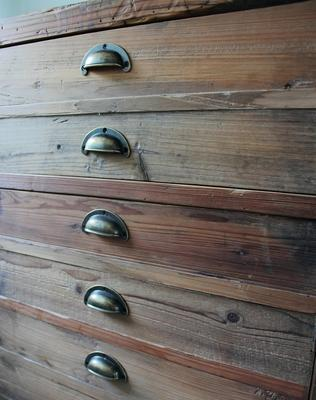 Double Rustic Pine Storage Unit image 4