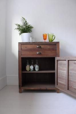 Single Rustic Pine Storage Cupboard image 4