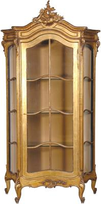 Gold Showcase Cabinet French Style