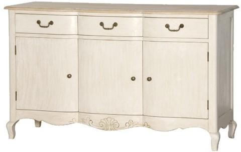 Country French Sideboard Bowed Curved Legs