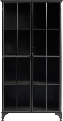 Large Metal Display Cabinet Distressed with 3 Shelves