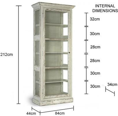 Rustic Glass Cabinet French Country Design image 3