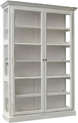 Large Rustic Glass Cabinet in Black or Cream image 6