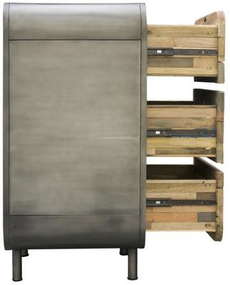Brooklyn Finest Industrial 3 Drawer Tall Chest image 6