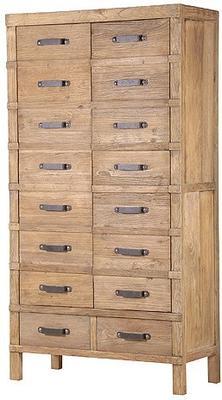 Elm Two Door Two Drawer Cupboard