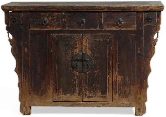 Elm Cabinet with Five Drawers image 2