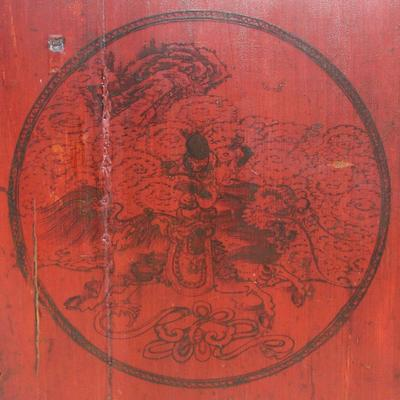 Red Lacquer Painted Sideboard image 5