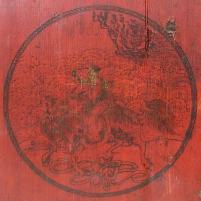 Red Lacquer Painted Sideboard image 6