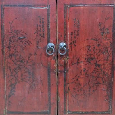 Red Lacquer Painted Sideboard image 7