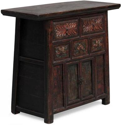 Carved Cabinet, Five Drawers