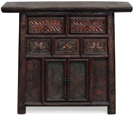 Carved Cabinet, Five Drawers image 3