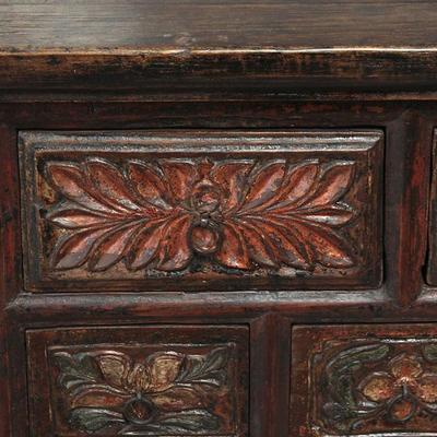 Carved Cabinet, Five Drawers image 4