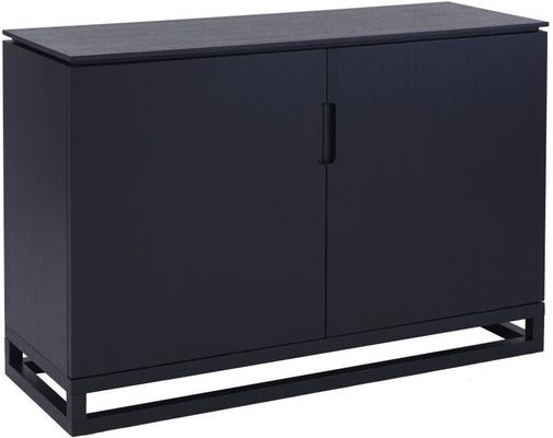 Cordoba Large Low Sideboard 2 Door Modern Black Wenge