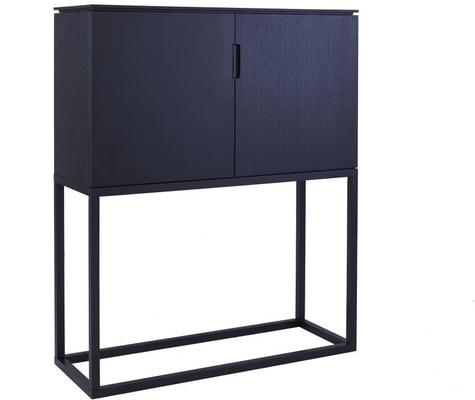 Cordoba Two Door Modern Tall Sideboard - Black Wenge