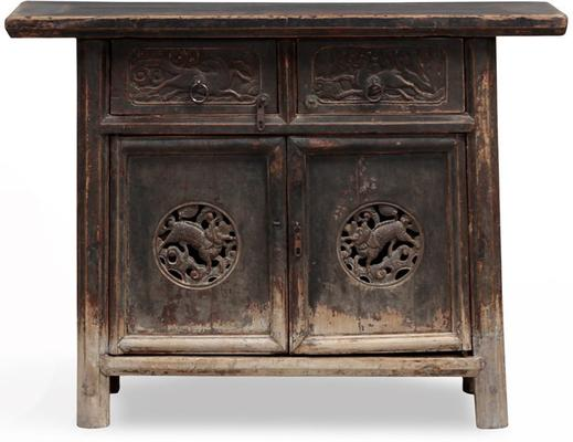 Carved Tapered Cabinet image 2