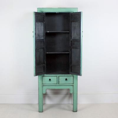Tall Blue Distressed Cabinet 2 Door 2 Drawer image 5