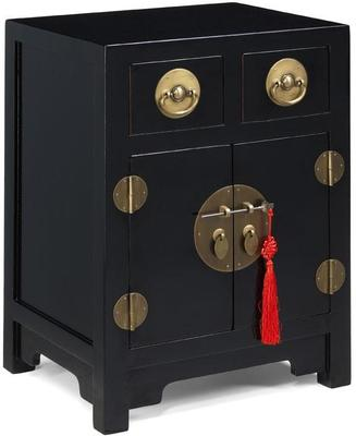 End Cabinet, Black Lacquer