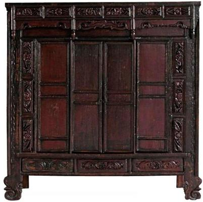 Carved Chinese Temple Cabinet image 2