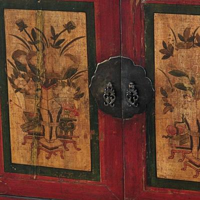Mongolian Painted Two Door Cabinet image 3