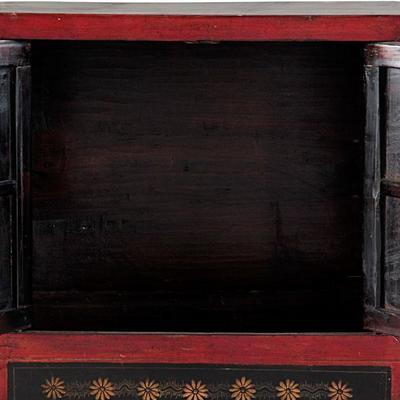Mongolian Painted Two Door Cabinet image 5