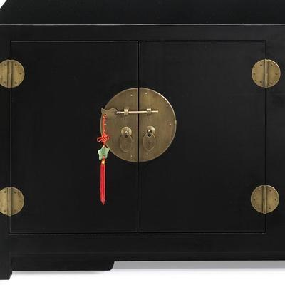 Low Kang Cabinet, Black Lacquer image 3