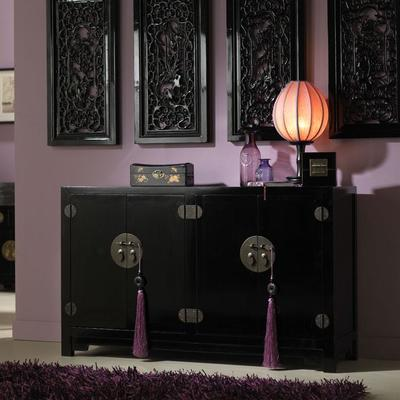 Double Sided Cabinet - black lacquer image 2