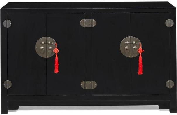 Double Sided Cabinet - black lacquer image 3