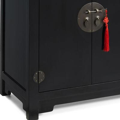 Double Sided Cabinet - black lacquer image 5