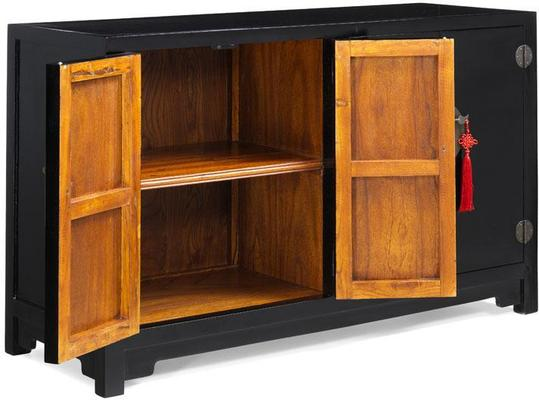 Double Sided Cabinet - black lacquer image 6