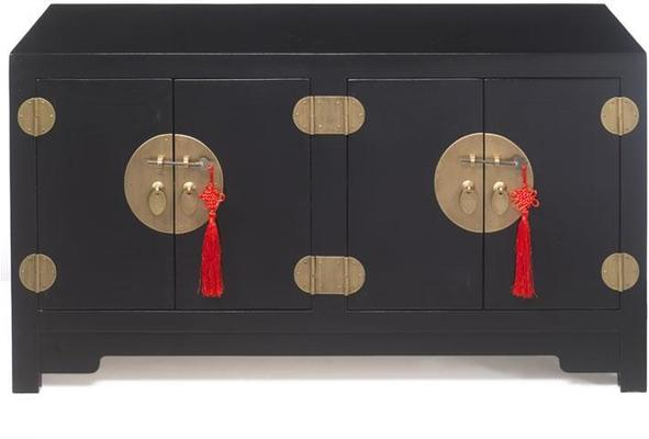 Small Kang Cabinet, Black Lacquer image 2