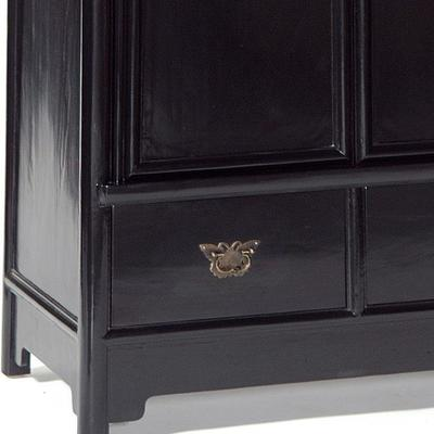 Large Tapered Cabinet, Black Lacquer image 3