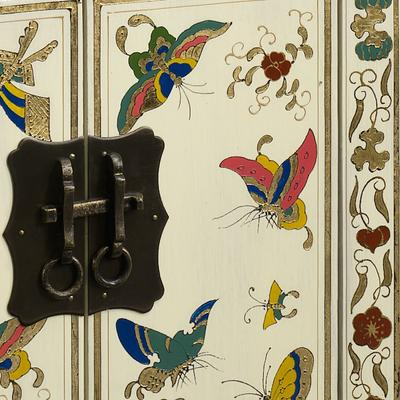 Small Butterfly Cabinet, Cream Lacquer image 3