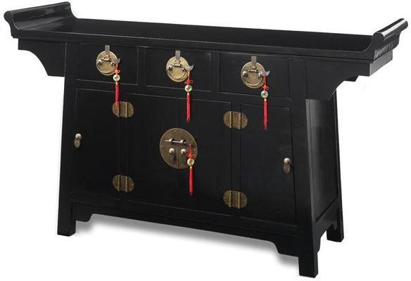 Altar Cabinet, Black Lacquer