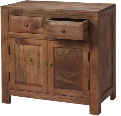 Alwar Mango Light Solid Wood Sideboard with 2 Drawers