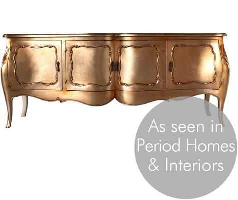 French Four Door Sideboard Victorian Gold image 2