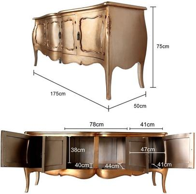 French Four Door Sideboard Victorian Gold image 4