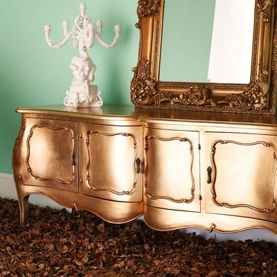French Four Door Sideboard Victorian Gold image 5