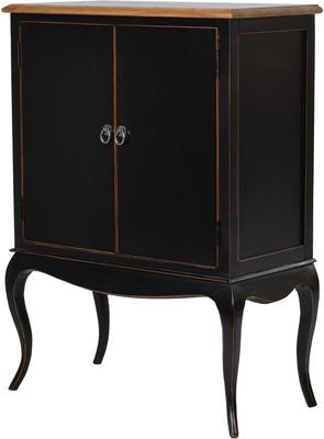 Black Lacquered Side Cabinet