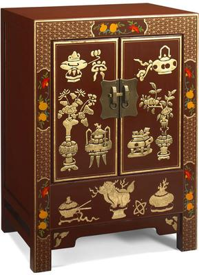 Shanxi Curio Cabinet in Red Lacquer