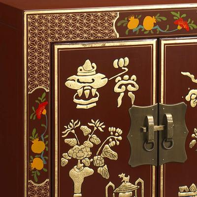 Shanxi Curio Cabinet in Red Lacquer image 2