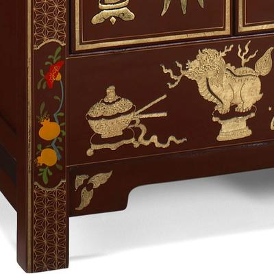 Shanxi Curio Cabinet in Red Lacquer image 3