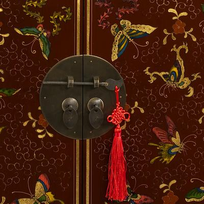 Shanxi Butterfly Sideboard, Red Lacquer image 3