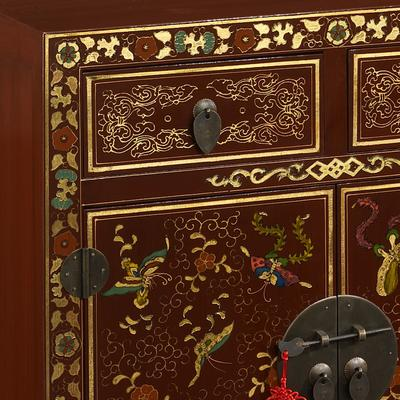 Shanxi Butterfly Sideboard, Red Lacquer image 4