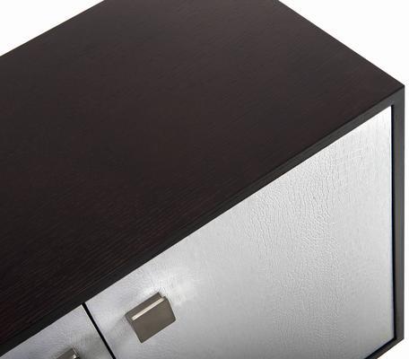 Ashka Sideboard - Wenge Oak/Faux  Leather image 4