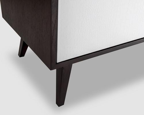 Ashka Sideboard - Wenge Oak/Faux  Leather image 5