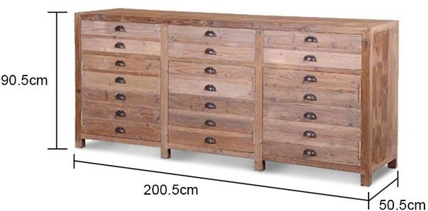 Extra Long Rustic Pine Storage Unit image 2