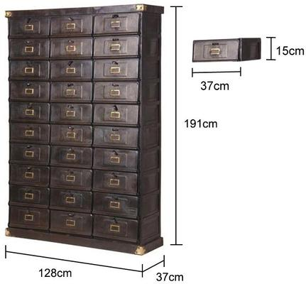 Thirty Drawer Metal Industrial Cabinet image 2